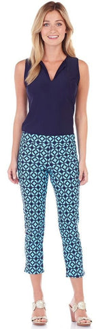 Laura Pant in Moroccan Tile Sapphire - Jude Connally - 1