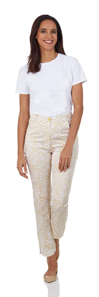 Tyler Pant <br>Cotton Sateen - Hidden Tigers
