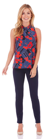 Macy Top in Mod Floral Midnight - Jude Connally - 1