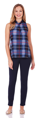 Macy Top in Plaid Midnight - Jude Connally - 1