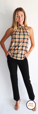 Melanie Top <br>Jude Cloth - Tartan