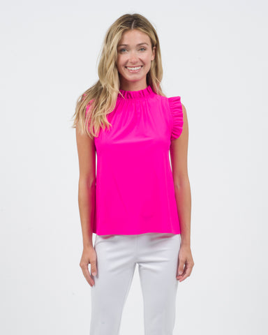 Mylie Top <br>Jude Cloth - Hot Pink