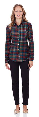 Amanda Shirt in Classic Plaid Red