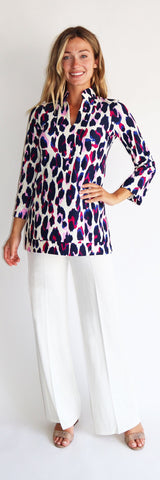 Chris Tunic Top <br>Jude Cloth - Large Leopard