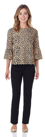 Dixie Top in Cheetah Camel