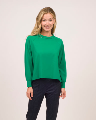 Rowan Top <br>Ponte Knit - Shamrock