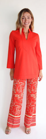Chris Top <br>Ponte Knit - Tangerine