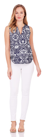 Ali Top in Brushed Ikat Navy - Jude Connally - 2