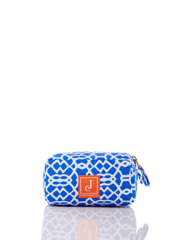 Delaney Makeup Bag in Bluebell Lattice Geo - Jude Connally - 1
