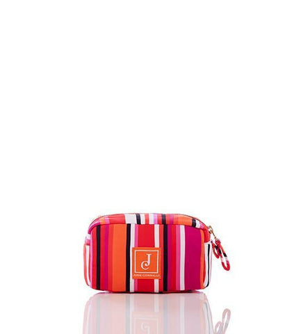 Delaney Makeup Bag in Stripe Multi Fuchsia - Jude Connally - 1