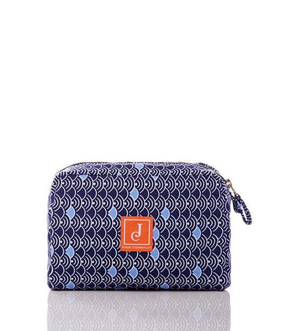 Carson Large Cosmetic Bag in Moon Drop Navy Peri - Jude Connally - 1
