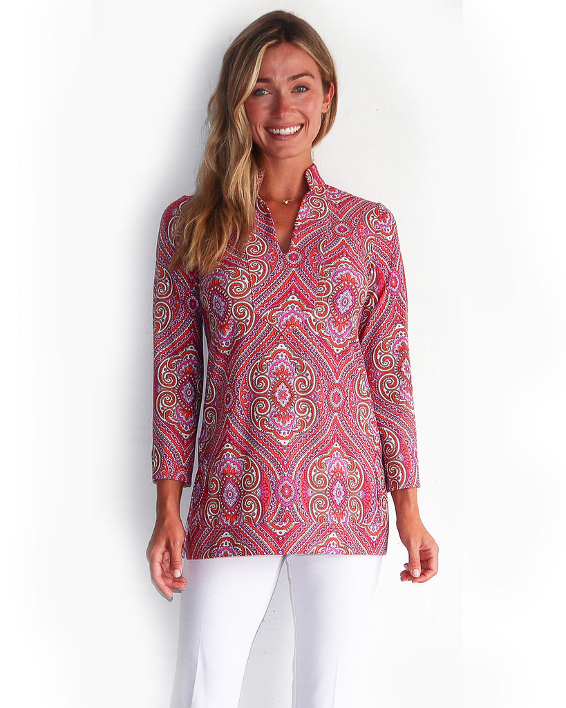 Chris Tunic Top <br>Jude Cloth - Paisley Medallion
