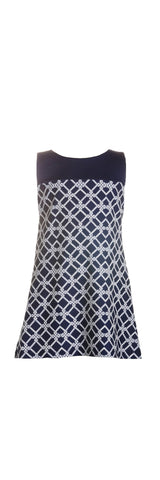 Little Molly Dress in Nautical Rope Navy - Jude Connally - 1