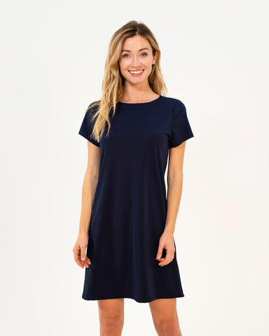 Ella Dress <br>Jude Cloth - Navy