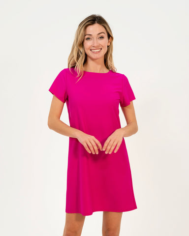 Ella Dress <br>Jude Cloth - Hot Pink