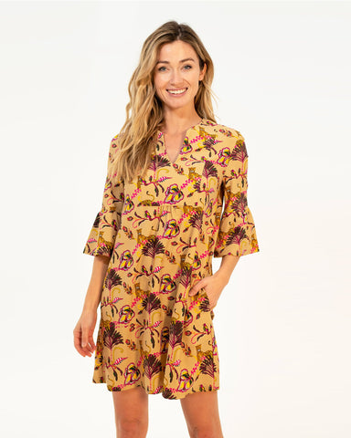 Kerry Dress <br>Jude Cloth - Lounging Cheetahs