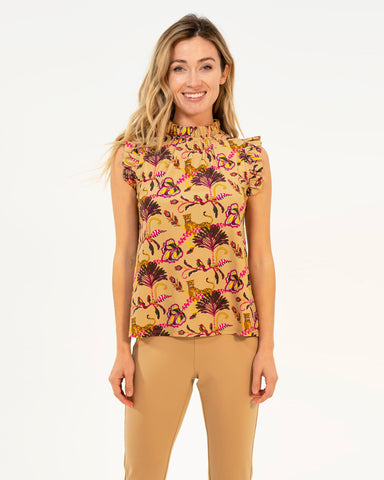 Mylie Top <br>Jude Cloth - Lounging Cheetahs