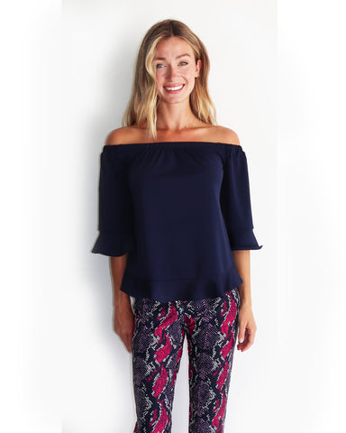 Demi Top <br>Jude Cloth - Navy