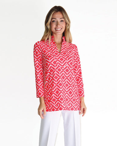 Chris Tunic Top <br>Jude Cloth - Sail Geo