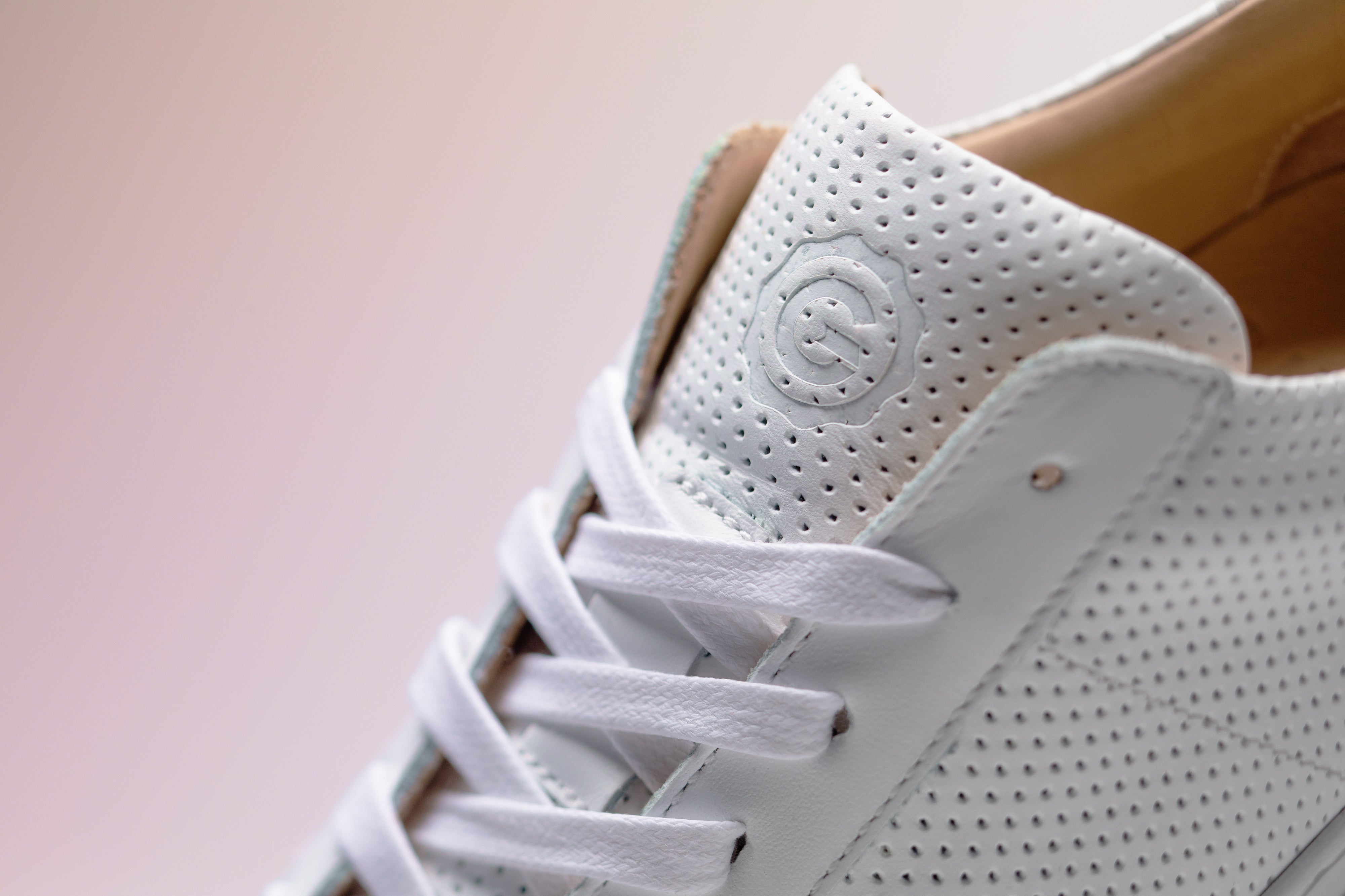 The Royale - Blanco Perforated Leather