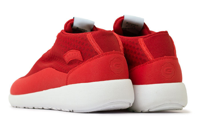 The Bab - Warning Red // White Sole