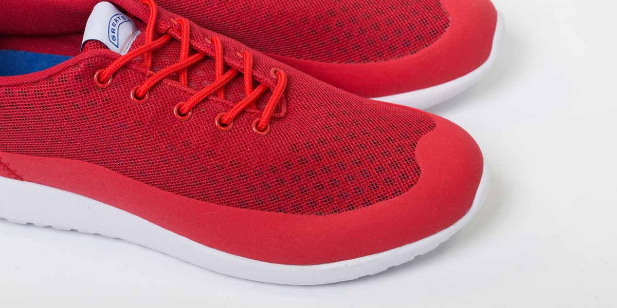 Bab Low - Warning Red // White Sole