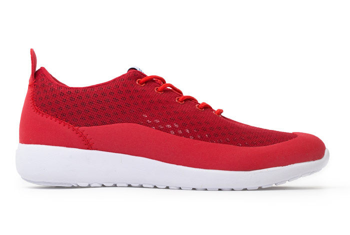 Bab Low - Warning Red // White Sole - Women's