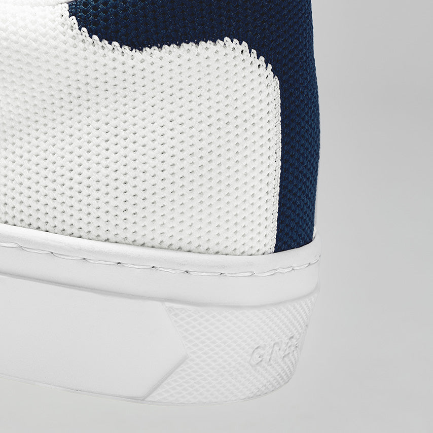 The Royale Knit - White/Navy