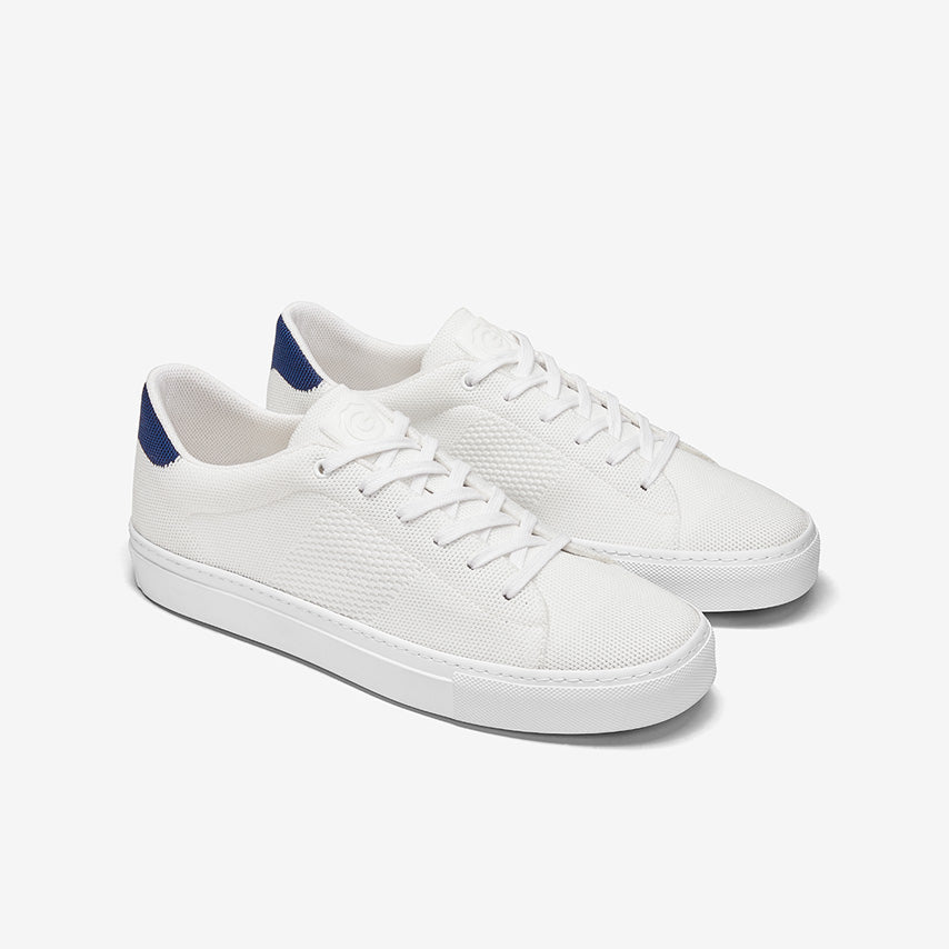 GREATS - The Royale Knit - White/Navy