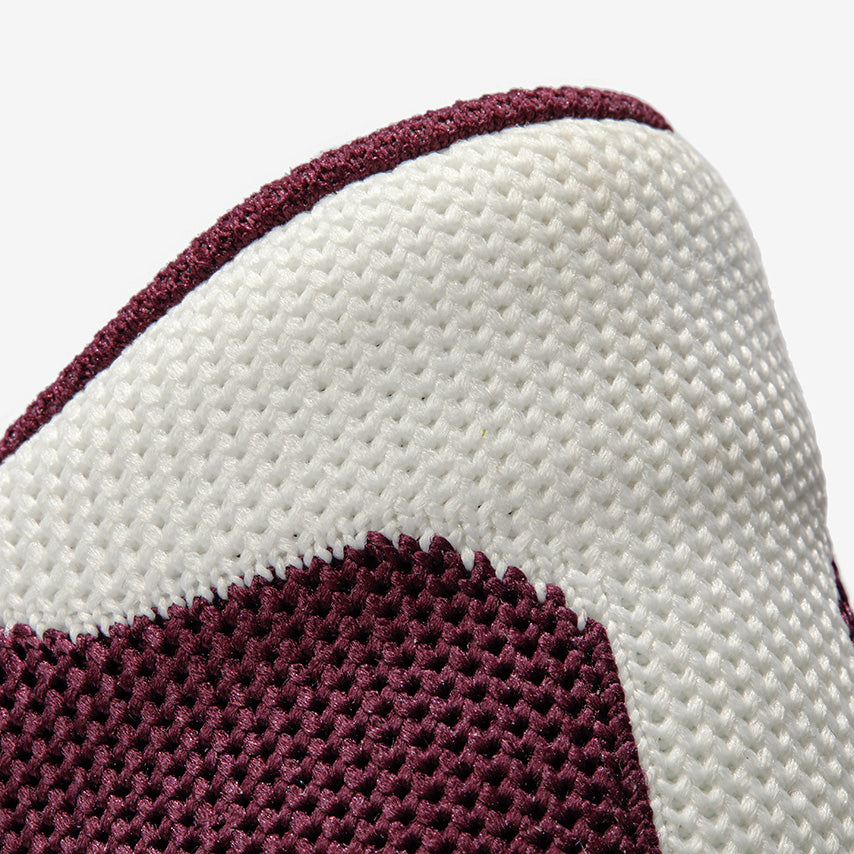 The Royale Knit - Maroon/White