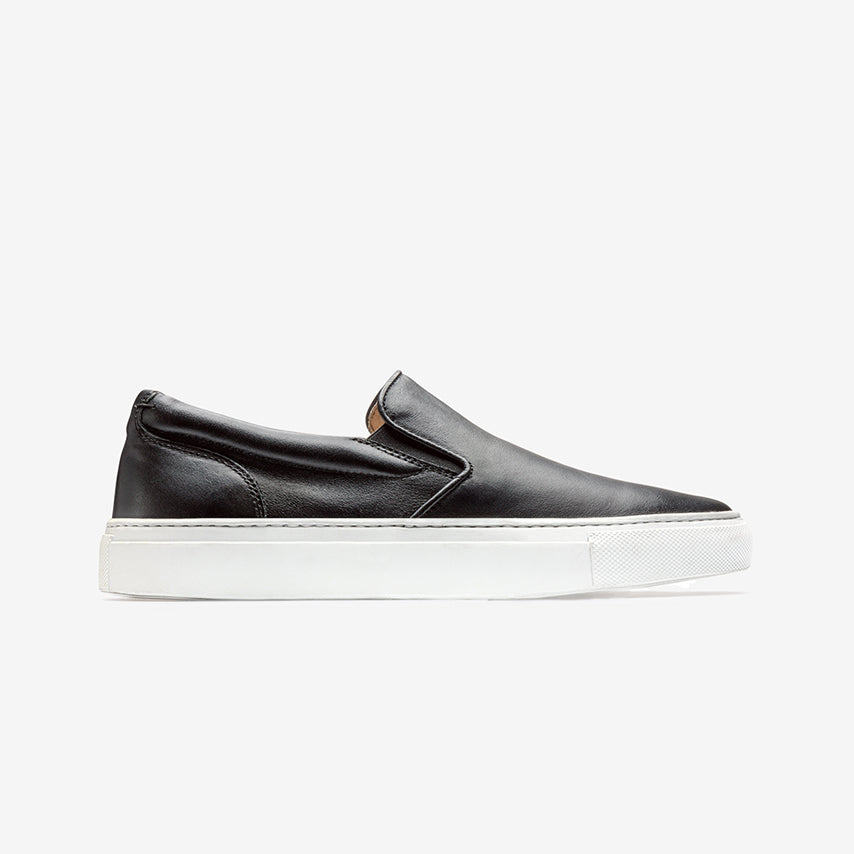 Greats The Wooster Slip On Nero Black Leather Womens Shoe