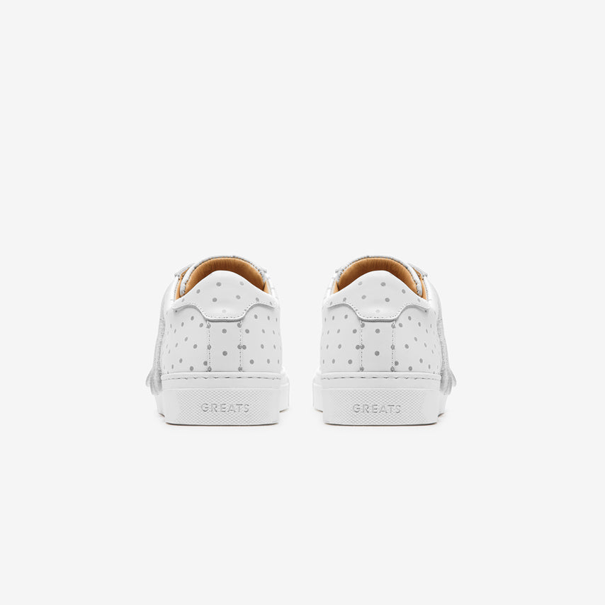 The Nick Wooster x GREATS Royale Velcro Women's - Blanco 3M Dots