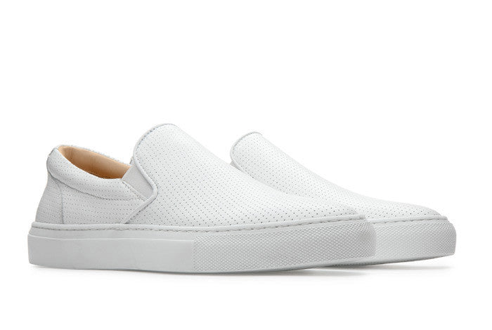 The Wooster - Perforated Blanco