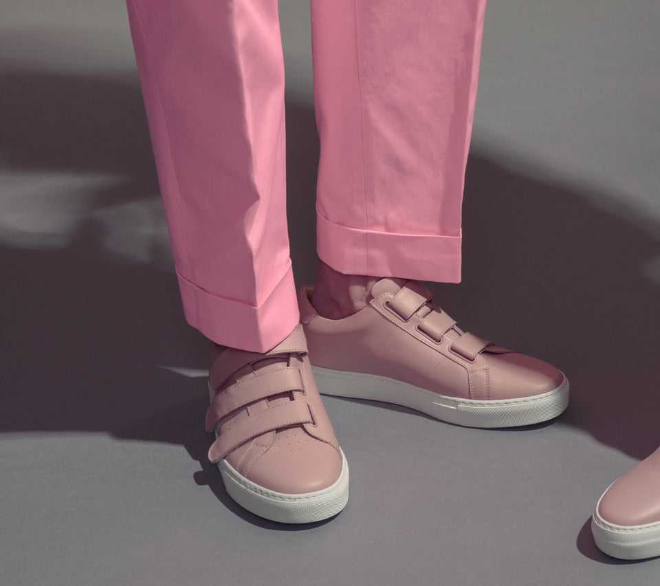 The Nick Wooster x GREATS Royale Velcro - Blush