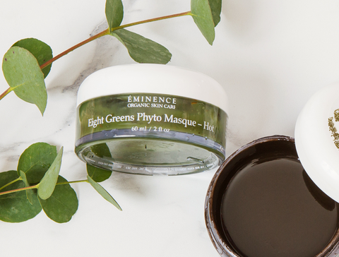 eminence organics eight greens phyto masque - 2021 skincare routine