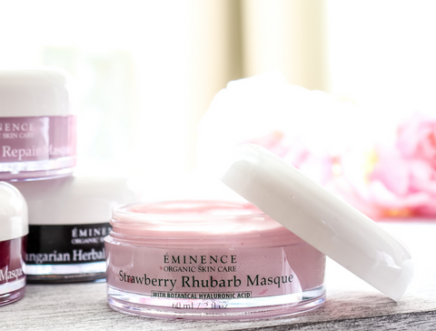 eminence organics strawberry rhubarb masque - 2021 skincare routine