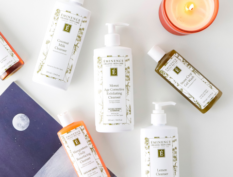 Fall skincare eminence organics Canada skincare for autumn Swap Foaming Cleansers for Milky Cleansers