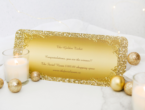 Golden Ticket Giveaway from The Facial Room