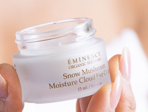 eminence organics snow mushroom moisture cloud eye cream - 2021 skincare routine