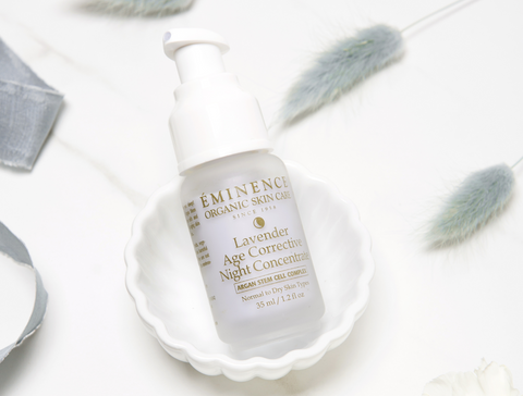 Eminence Organics Lavender Age Corrective Night Concentrate - spring skincare routine - the facial room