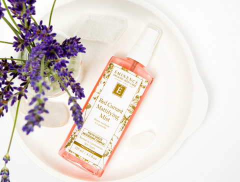 Eminence Organics Red Currant Mattifying Mist - at home facial