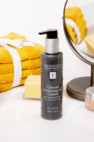 eminence organics gemstone collection charcoal exfoliating gel cleanser