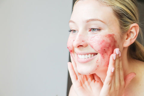 Woman Adding Peel to Her Face