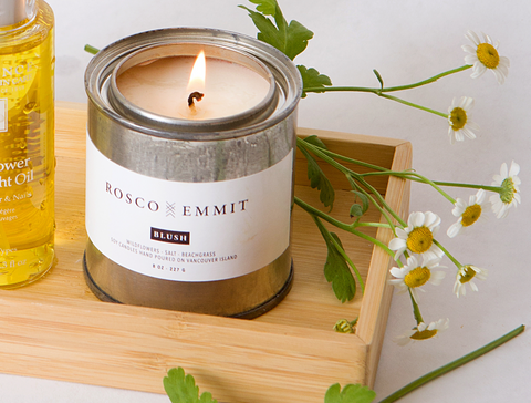 Rosco Emmit Blush Candle - spring skincare routine - the facial room