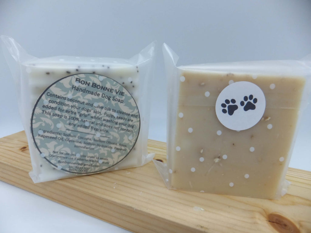 Handmade Dog Soap with Coconut Oil.  Does not contain Palm oil, parabens. SLS and SLES free.