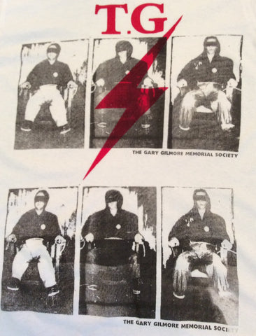 Punk Tshirt Throbbing Gristle Gary Gilmore Electric Chair