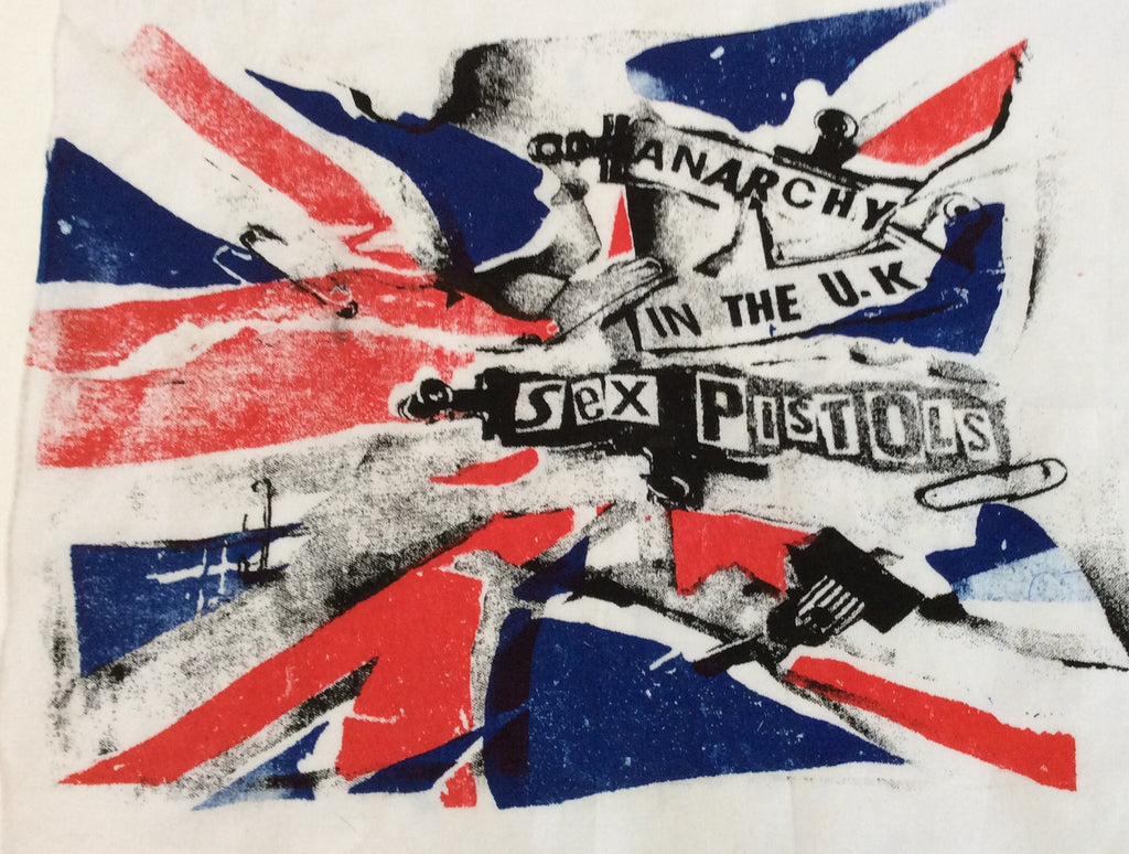 Sex Pistols - Anarchy in the UK Scarf - Punk BANDANA - Union Jack Flag -wall hanging decor - Hankerchief-new