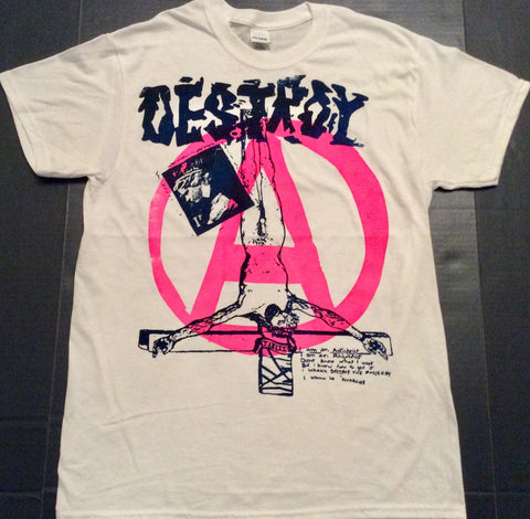 DESTROY Jesus Punk Anarchy Logo T-Shirt
