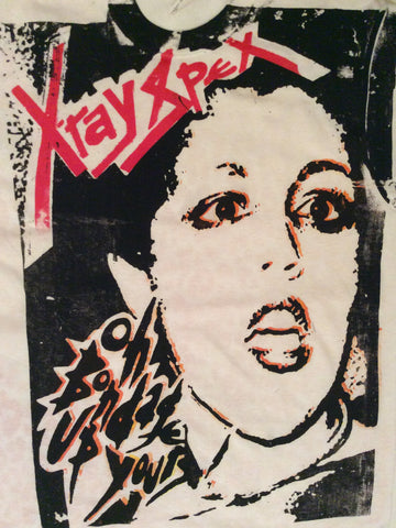 Xray Spex and Leopard Punk T-shirt Polly Styrene Double-sided print Sm 36""