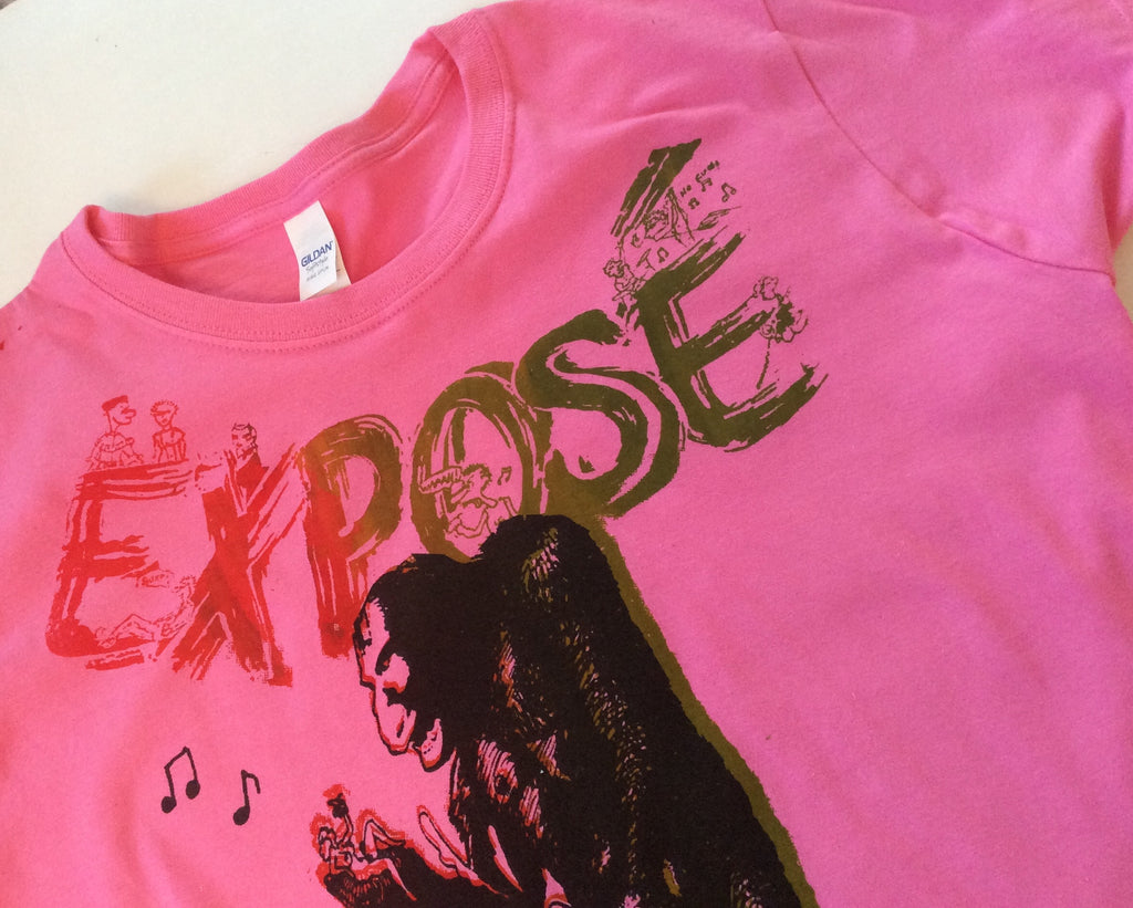 EXPOSE King Kong Punk Rock Sex TSHIRT pink womens 38""